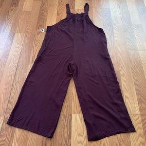 Strappy Straight Neck Waistless Woven Jumpsuit -